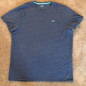 Hollister T-shirt in Heather Blue (XL)